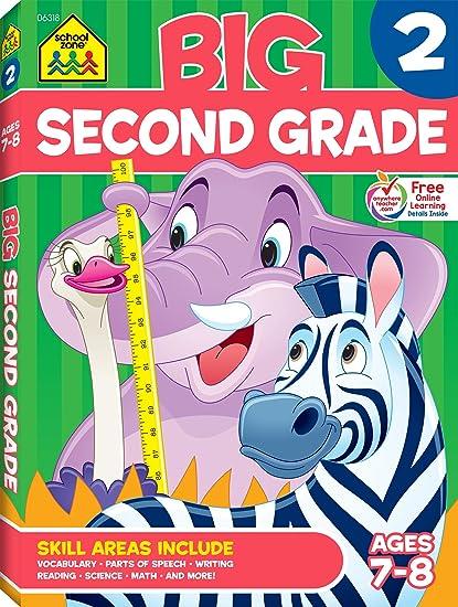 Amazon.com: Second Grade Big Workbook (7544580249242): School Zone ...