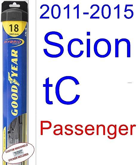 2011 – 2015 Scion tC hoja de limpiaparabrisas de repuesto Set/Kit (Goodyear limpiaparabrisas
