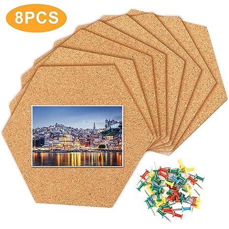 Amazon Com 8 Pack Cork Board Tiles Hexagon Cork Tiles Self