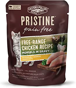 Castor & Pollux Pristine Grain Free Wet Cat Food Morsels in Gravy (24) 3 oz. Pouches