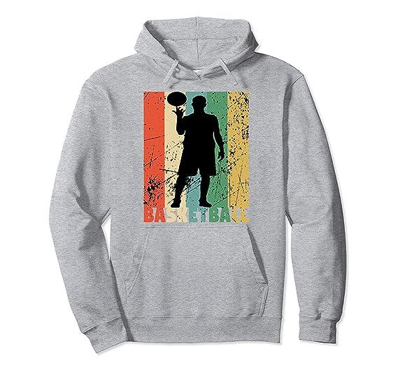 zixxoxxz Sudadera con Capucha y Cremallera Baloncesto Vintage ...