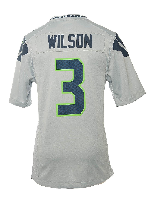 Amazon.com   Nike NFL Men s Russell Wilson Seattle Seahawks Jersey - Grey    Sports   Outdoors 5249b06d6