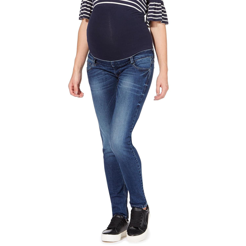 Red Herring Maternity Womens Blue Maternity Skinny Jeans