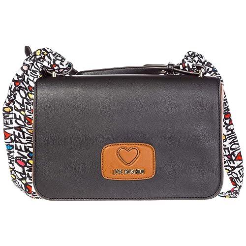 90068317815 Love Moschino women shoulder bag bianco - cuoio - nero  Amazon.co.uk  Shoes    Bags