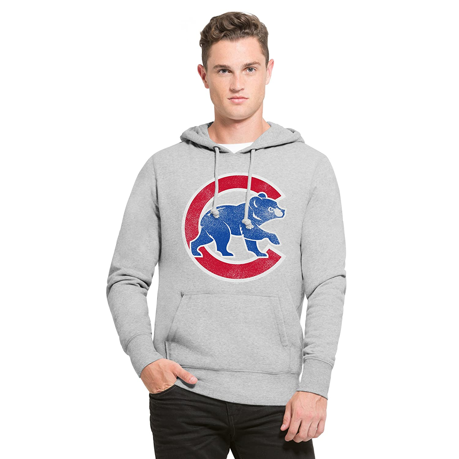 '47 Brand Chicago Cubs Knockaround Hoodie MLB Sweatshirt Grey