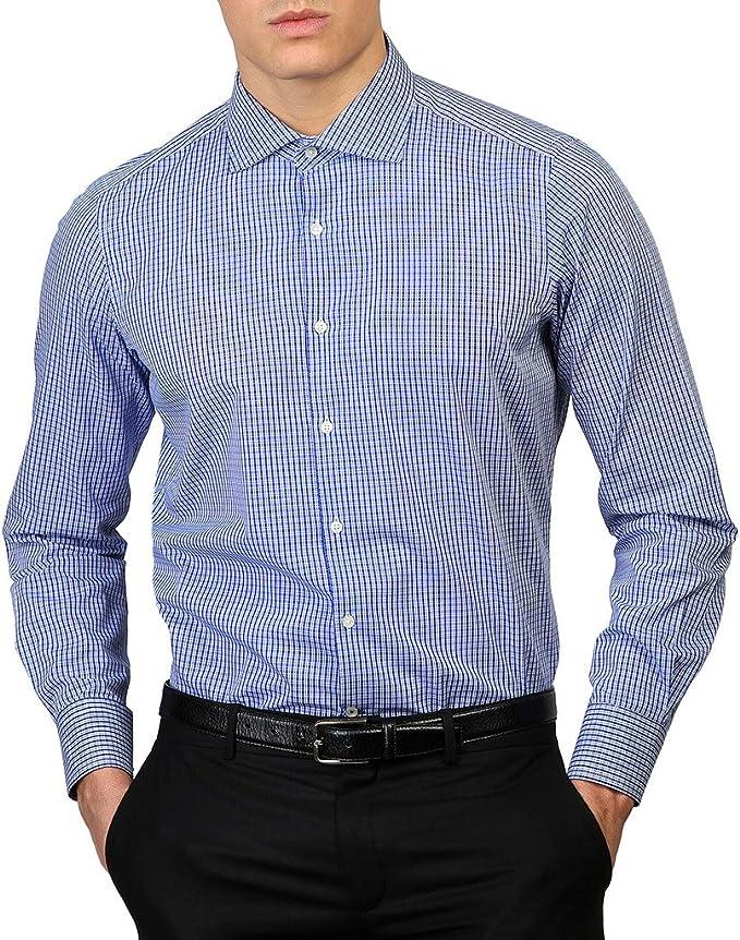ROYAL POLO - Camisa de vestir - Manga Larga - para hombre Azul ...