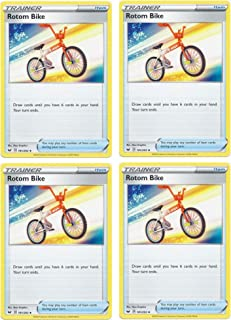 product image for Pokemon Card - Rotom Bike - Sword and Shield Base - x4 Card Lot Playset - 181/202 Uncommon