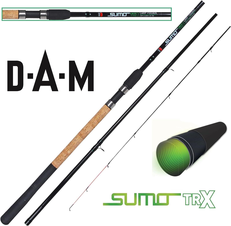 DAM Sumo TRX Carp Feeder – Caña de pescar (25 – 75 G, 3 + 3 ...