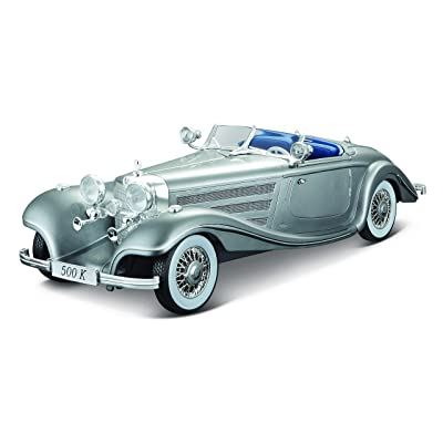 Maisto 1:18 Scale 1936 M-B 500 K Type Specialroadster Diecast Vehicle: Toys & Games