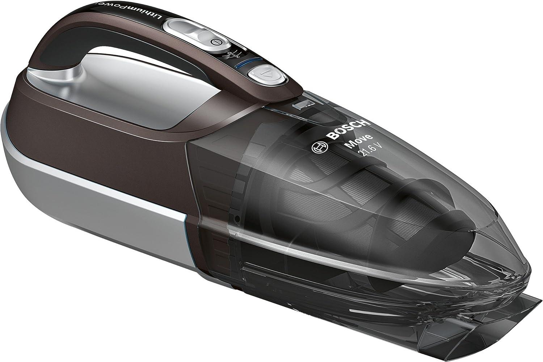 Bosch BHN2140L Move Lithium Aspirador de mano, batería de 21,6 vatios, color marrón y gris