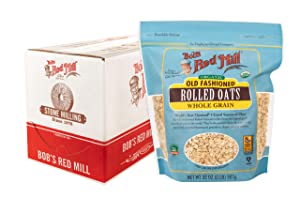Bob's Red Mill Organic Old Fashioned Rolled Oats, 128 Oz