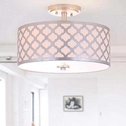 Safavieh Collection Kora Quatrefoil 3 Flush Mount Light