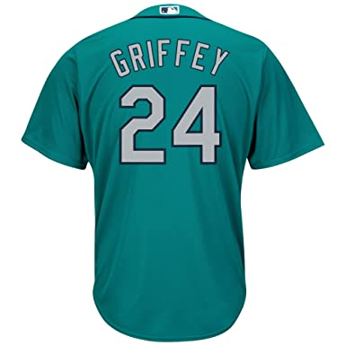 b149425c5 Ken Griffey Jr. Seattle Mariners Teal Youth Cool Base Alternate Replica  Jersey (Small 8