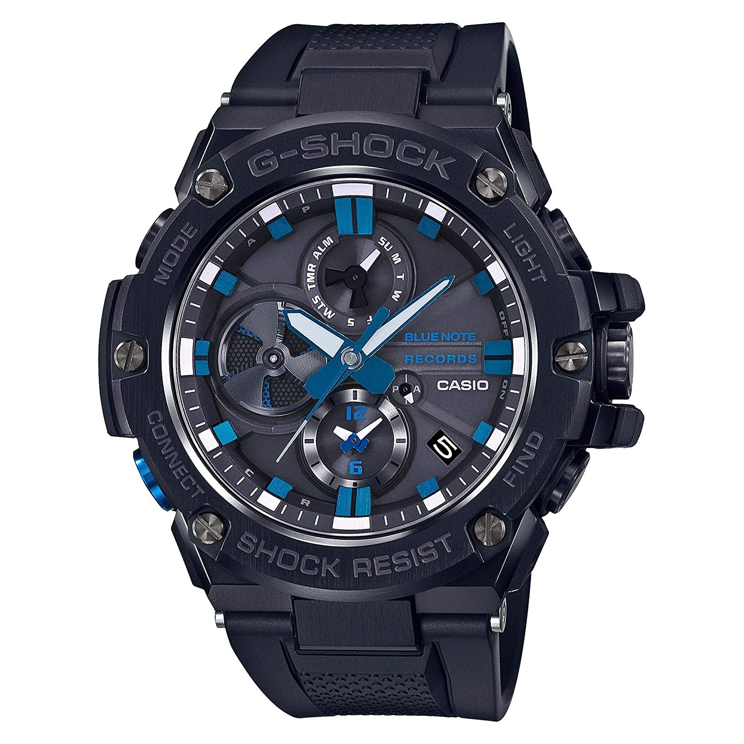 Mens Casio G-Shock G-Steel Limited Edition Blue Note Records Bluetooth Watch GSTB100BNR-1A