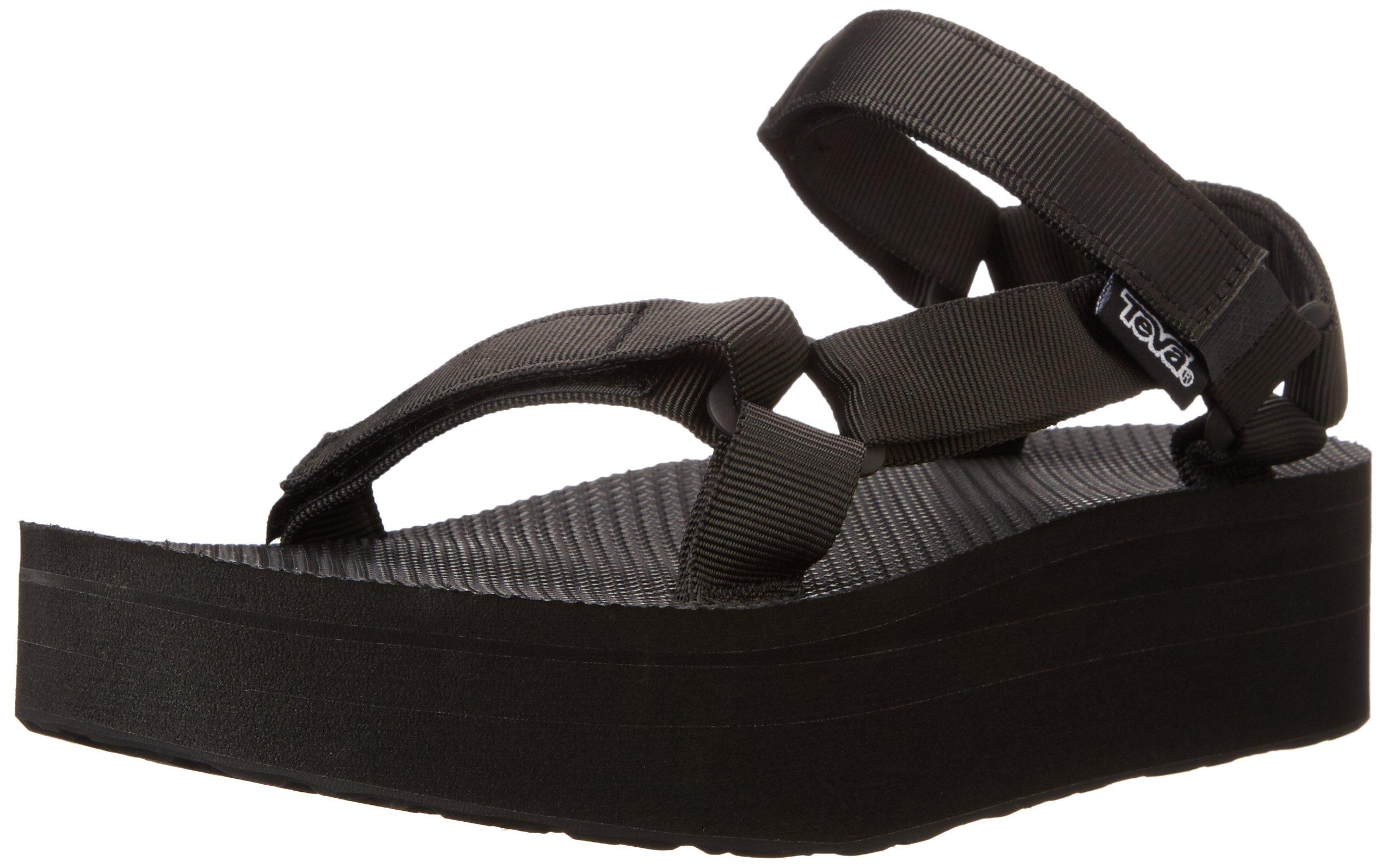 Teva Women's Flatform Universal Platform Sandal, Black, 6 M US by Teva