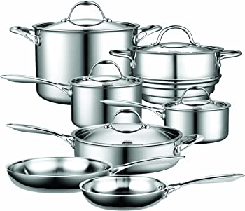 Cooks Standard 12-Pc. Stainless-Steel Cookware Set