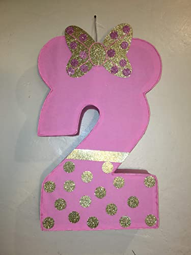 Minnie Mouse Number 2 Pinata Birthday Party Gold And Pink