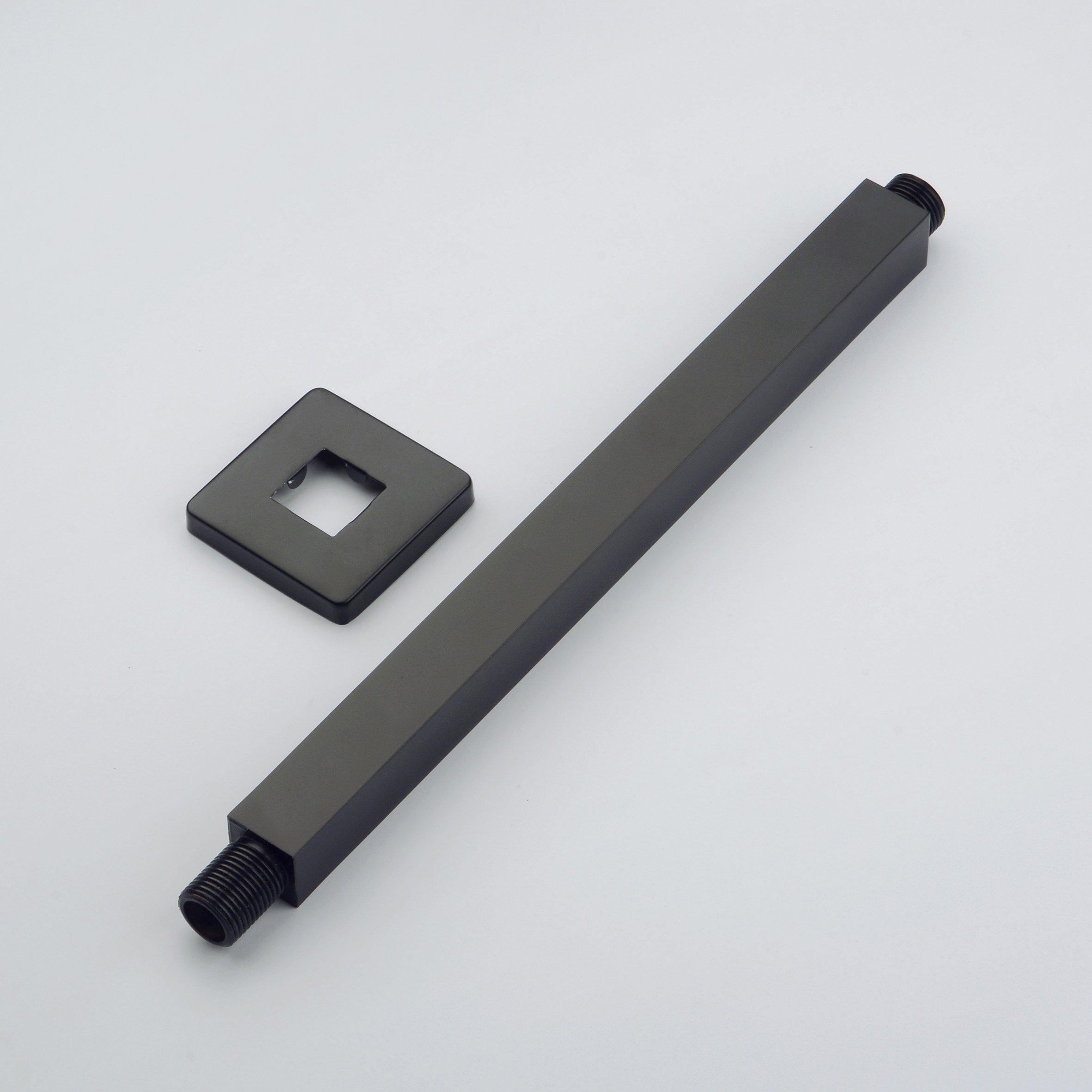 Hiendure 8-inch Ceiling Mount Shower Arm with 1/2-inch NPT Thread, Oil Rubbed Bronze