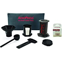 AeroPress Coffee and Espresso Maker with Tote Bag and 350 Additional Filters - Quickly Makes Delicious Coffee Without…
