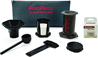 product image for AeroPress Coffee and Espresso Maker with Tote Bag and 350 Additional Filters - Quickly Makes Delicious Coffee Without Bitterness - 1 to 3 Cups Per Press