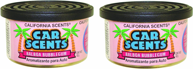 Amazon.es: California Scents - Lata ambientadora para Coche (Aroma de Chicle, 2 Unidades)