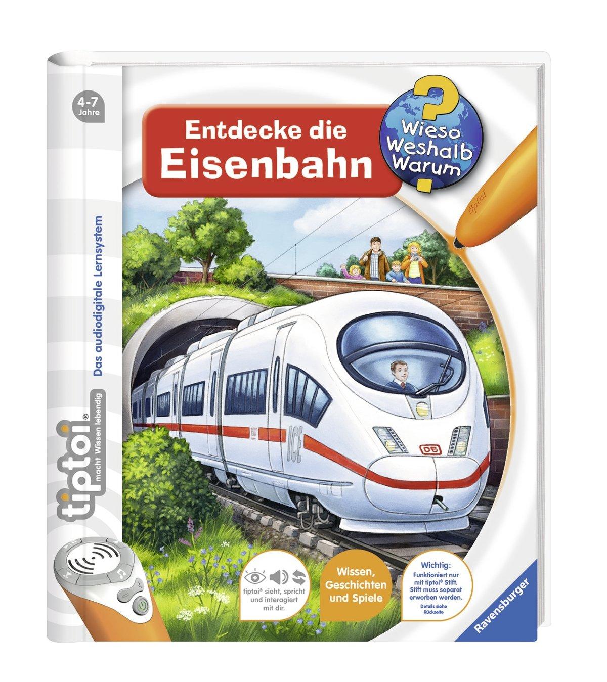 tiptoi Entdecke die Eisenbahn (Alemán) Encuadernación en espiral – 1 abr 2015 Inka Friese Joachim Krause Ravensburger Buchverlag 3473329177