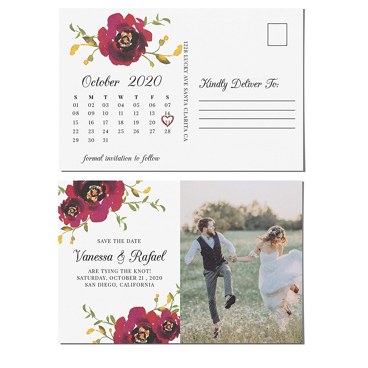 Amazon com: Save the Date Postcards for Weddings with Photo