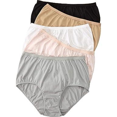 18e314c06b6 Comfort Choice Women s Plus Size 5-Pack Pure Cotton Full-Cut Brief - Basic