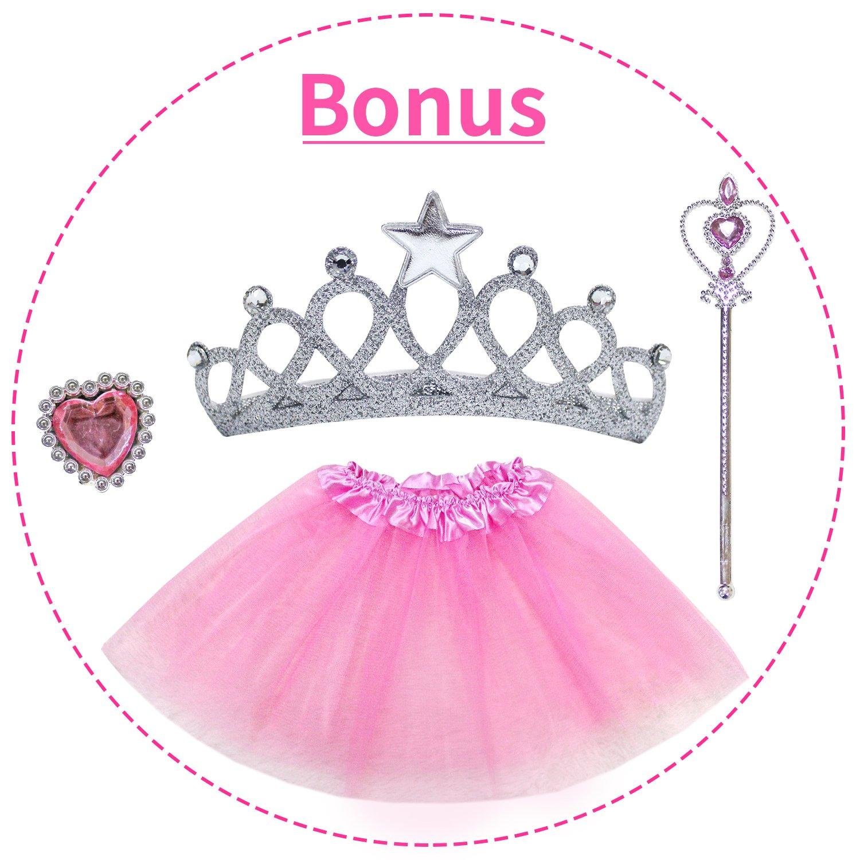 Bonus Princess Juego de Disfraces de Tutu Dress up! YOOBE 5pc Tienda de Princesa para Ni/ñas Tienda de Campa/ña Princess Castle