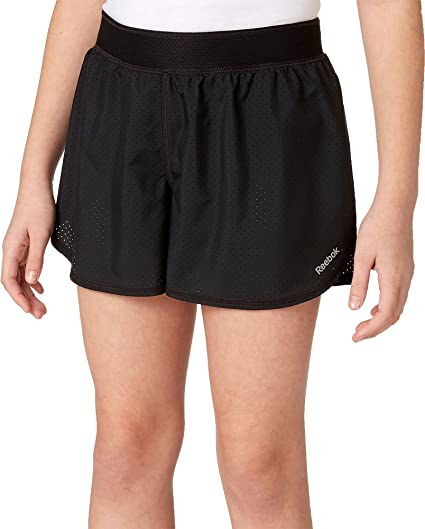 41fc1e5e Amazon.com : Reebok Girl's Perforated Running Shorts : Sports & Outdoors