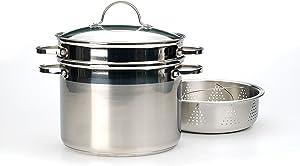 RSVP International Endurance Multi Cooker, 8 Quart, Stainless Steel