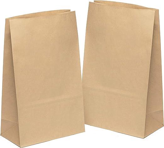 kgpack 50x Bolsas de Papel Kraft DIY 31 x 19 x 10 cm | Bolsas de