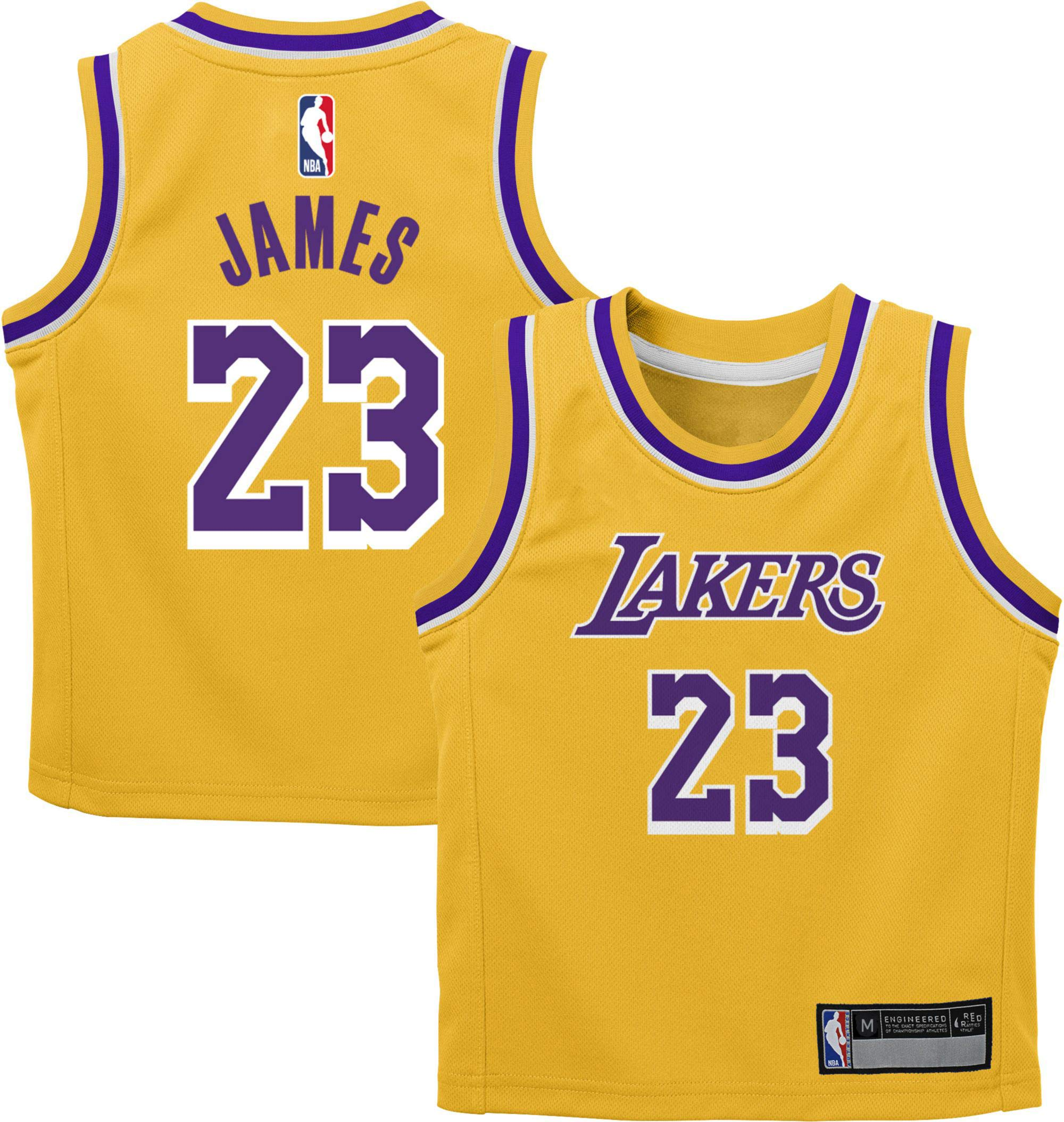 Outerstuff Lebron James Los Angeles Lakers #23 Youth Statement Purple Swingman Jersey