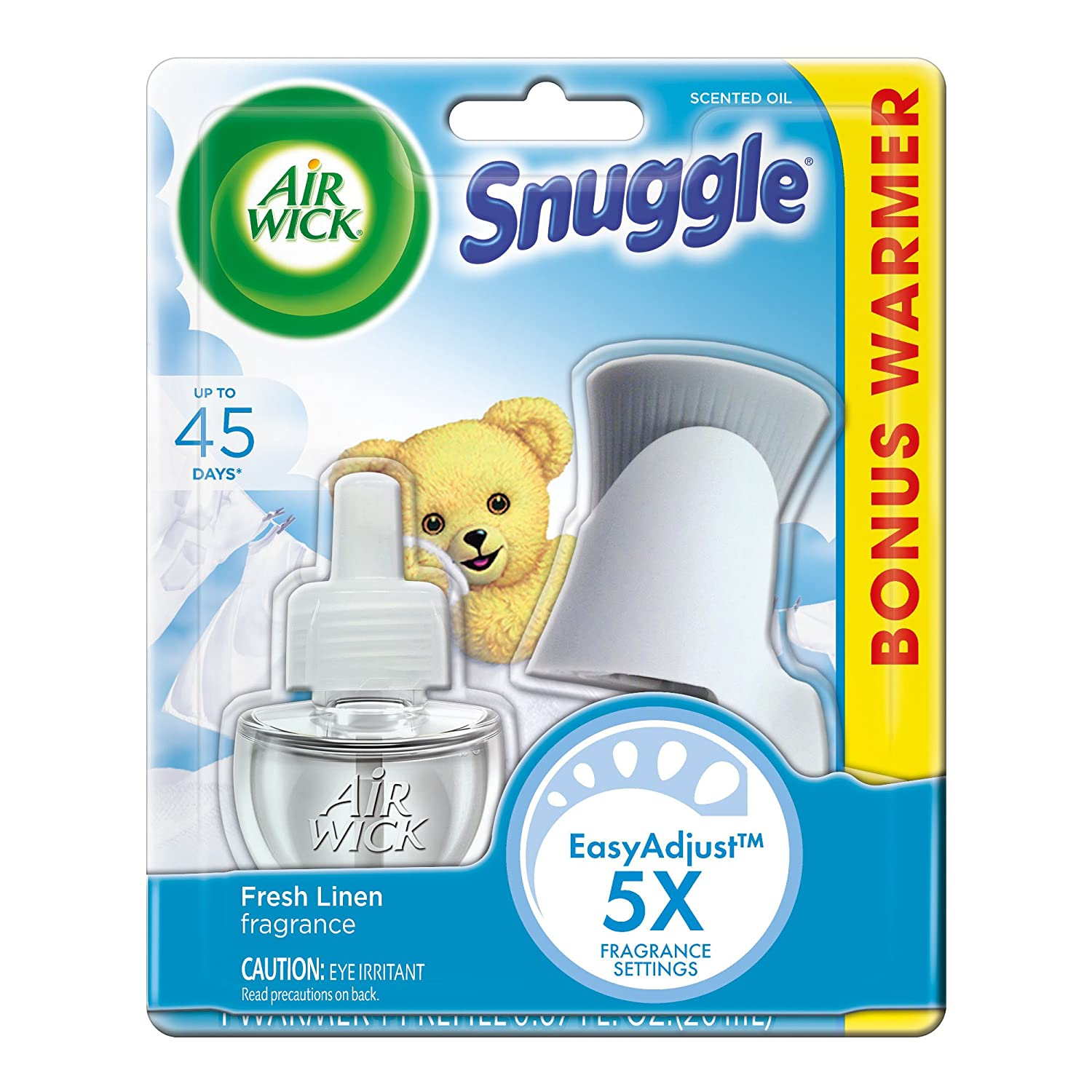 Air Wick Scented Oil Kit (Warmer + 1 Refill), Snuggle Fresh Linen, 1ct F00001