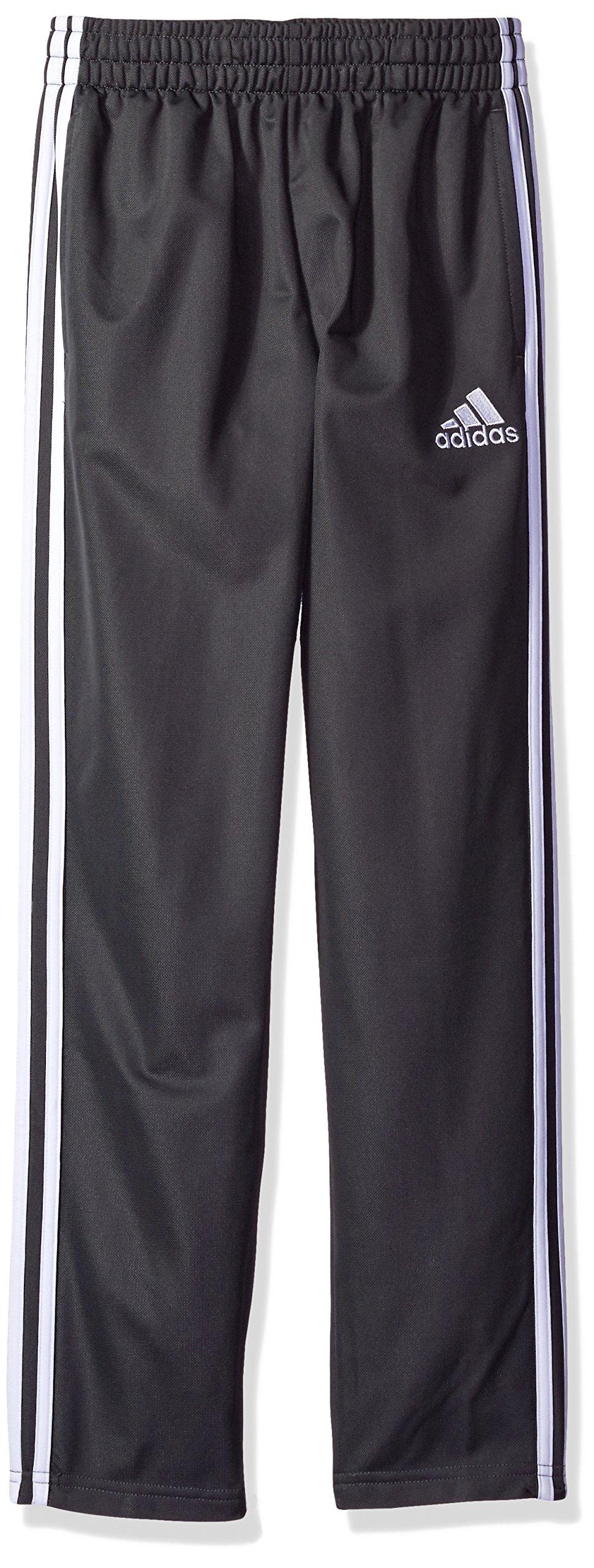 adidas Boys' Big Tricot Pant, Dark Gray, XL