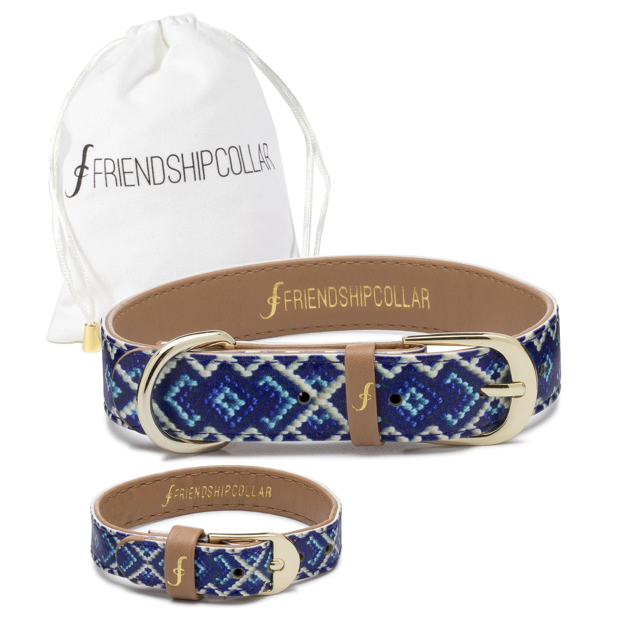 FriendshipCollar Dog Collar and Friendship Bracelet - The Mucky Pup - Medium by FriendshipCollar