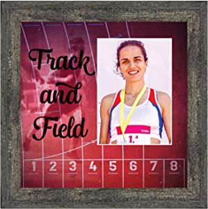 Crossroads Home Décor Track and Field, Runners Wall Art, Coach or Athlete Picture Frame, 6411BW