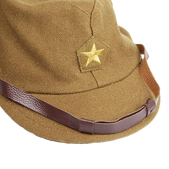 9edfb5100a2 Heerpoint Reproduction WWII WW2 Japanese army IJA Officer Field Hat Cap L   Amazon.ca  Clothing   Accessories