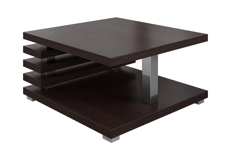 Tavolino Da Caffè Tavolino Da Salotto Tavolo Oslo 60 x 60 CM Rovere Scuro Wenge E-Com International B.V.