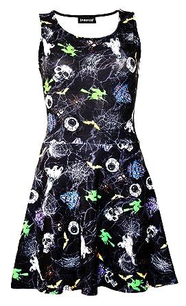 Insanity Clothing Damen Skater Kleid mehrfarbig mehrfarbig Gr. S/M,  mehrfarbig
