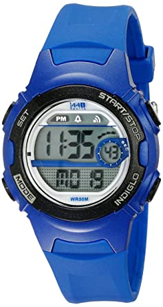 0654adfaf Image Unavailable. Image not available for. Color: Timex Women's 1440 Sport  Digital Blue Resin Watch ...
