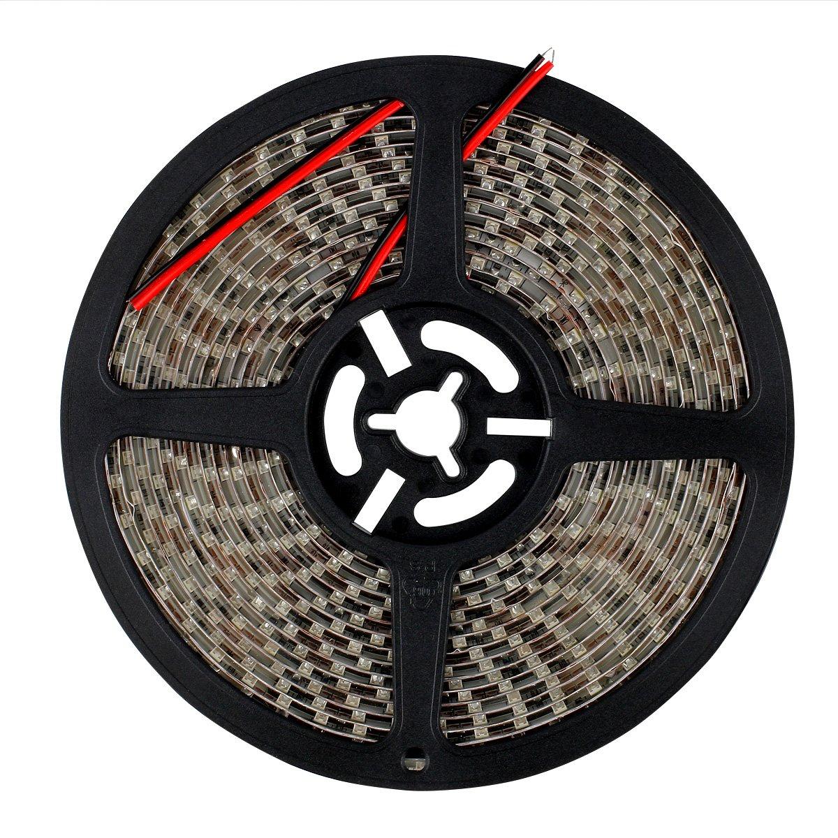SUPERNIGHT High Density Green Waterproof Led Light Strip, SMD 3528, 5 Meter or 16 Ft LED Strip 120 Leds/M by SUPERNIGHT (Image #7)