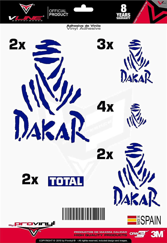 Provinyl Aufkleber Dakar Pack 13 St/ück f/ür Auto Motorrad gold