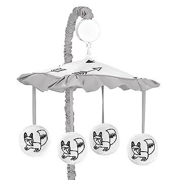 Amazon.com: Sweet diseños Jojo, Gris, Blanco y Negro Fox y ...