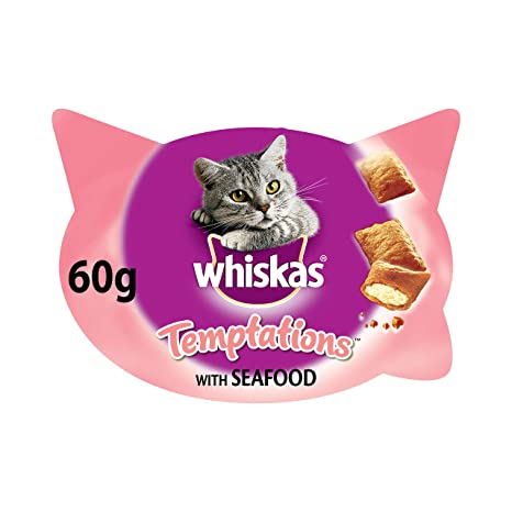 Temptations Premios para Gatos Sabor Del Mar - [Pack de 8]