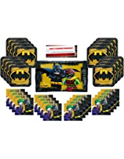 """Lego Batman Party Supplies Bundle Pack for 16 (Plus 22"""" inch Balloon and Party Planning Checklist by Mikes Super Store)"""