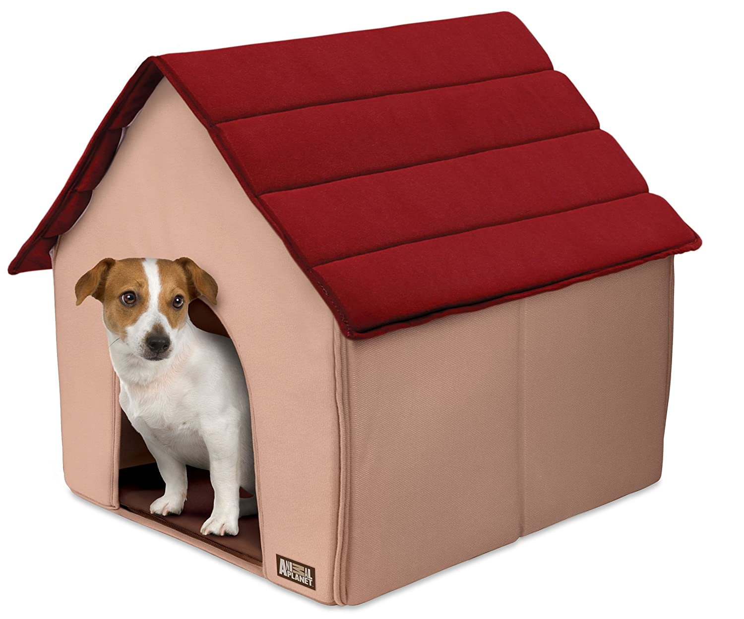 Indoor dog houses - Amazon Com Animal Planet Fold Go Portable Pet House Red Dog Houses Pet Supplies