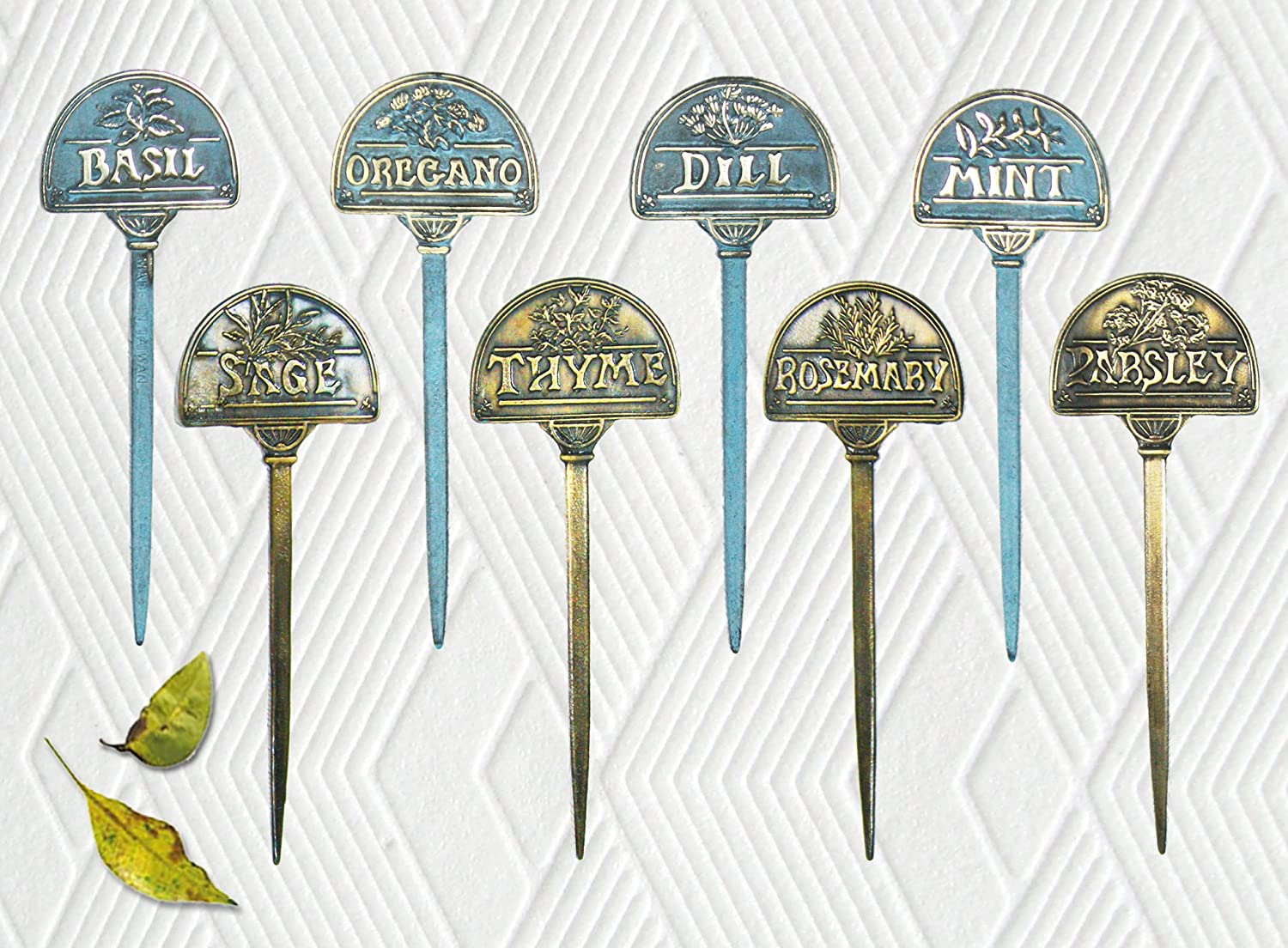 Amazon.com : Brass Herb Marker   Set Of 8 Pcs : Garden Stakes : Garden U0026  Outdoor