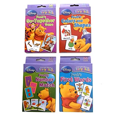 Disney Winnie the Pooh Learning Cards (Set of 4 Decks) : Flash Cards : Baby