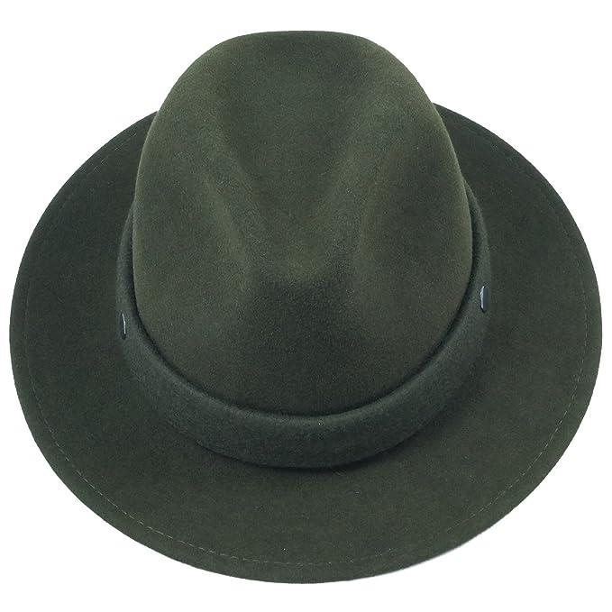 Faustmann - Sombrero de Vestir - para Hombre Verde Verde M: Amazon.es: Ropa y accesorios